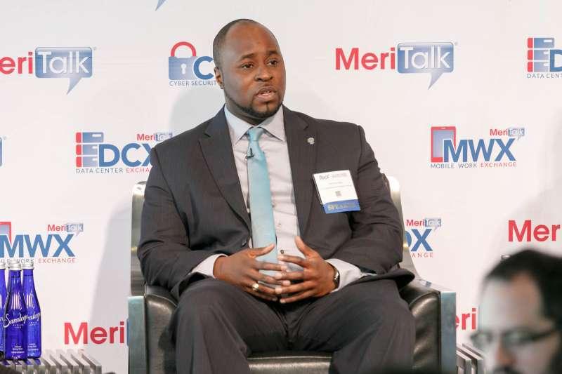 Yemi Oshinnaiye speaking during his panel on DCOI