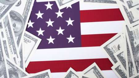 Federal spending American flag government