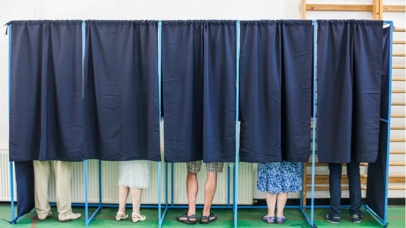 voting booth, election security