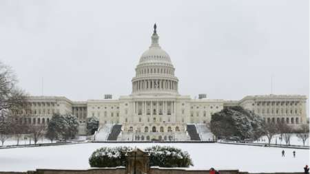 Snow day winter capitol building DC-min