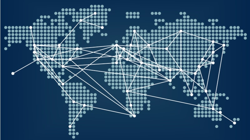 map global connected network world globe-min